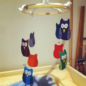 Felt Owl Baby Mobile